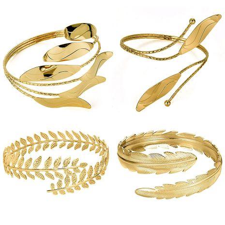 vente chaude bague de bras de feuille en métal ensemble bracelet en quatre pièces en gros NHOA254977's discount tags