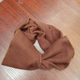 NHUX1105676-Brick-red-knitted-big-bow-headband