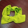 NHUX1105677-Fluorescent-yellow-knitted-big-bow-headband