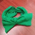 NHUX1105678-Dark-green-knitted-big-bow-headband