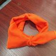 NHUX1105682-Orange-knitted-big-bow-headband