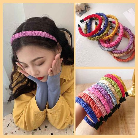 Cute girl fold bubble headband wholesale NHCQ255125's discount tags