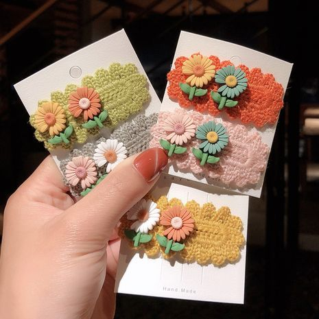 Korean cute flower princess hairpin fabric elegant clip headdress wholesale  NHCQ255140's discount tags