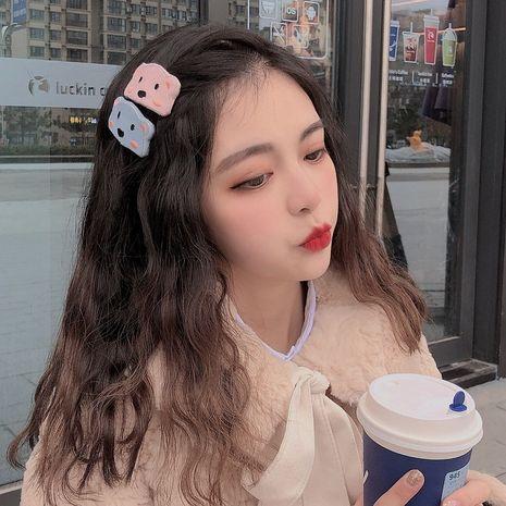 Clip côté coréen enfantin mignon tête transparente lait mignon ours en épingle à cheveux en gros NHCQ255149's discount tags