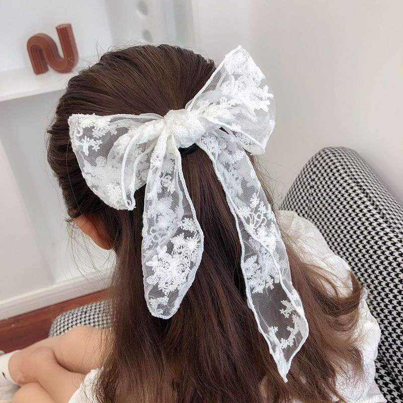 Korean chiffon bow hair rope sweet head rope rubber  wholesale  NHCQ255180