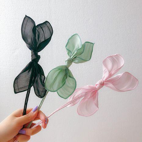 Corea nueva cabeza de lazo de pelo de lazo cabeza de flor niña varilla que se encrespa al por mayor NHCQ255183's discount tags
