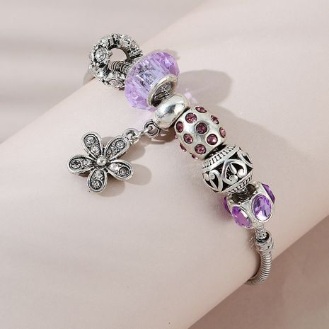 Korean fashion ethnic style small flower alloy bracelet for women NHPS255194's discount tags