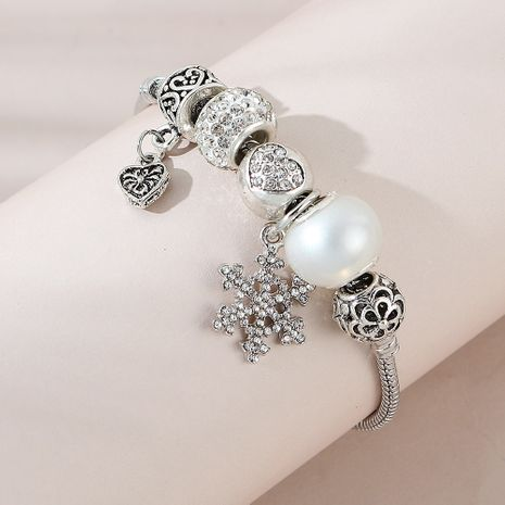 Fashion  versatile new snowflake alloy bracelet for women NHPS255195's discount tags