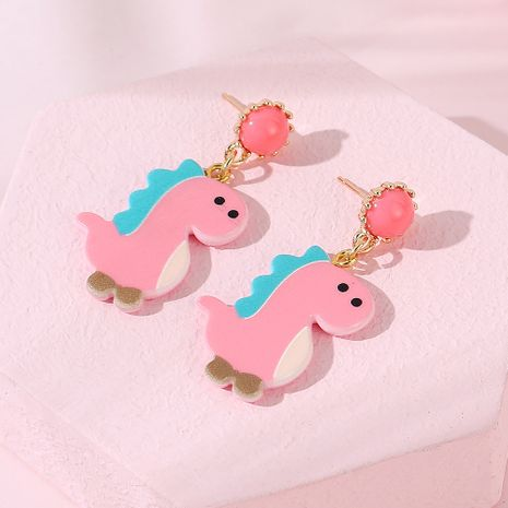 Fashion little pink dragon  earrings wholesale NHPS255198's discount tags