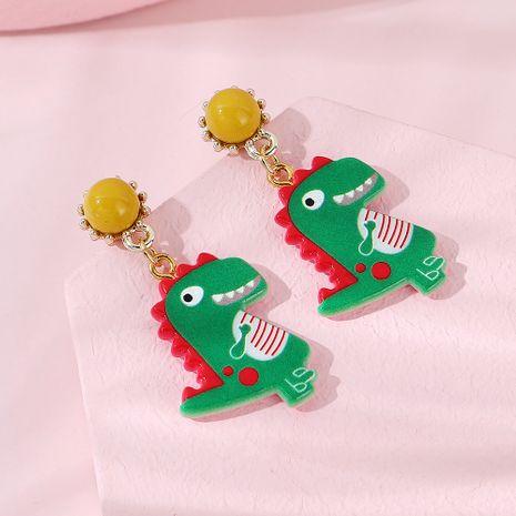 Mode kreative kleine grüne Drachenohrringe Großhandel NHPS255199's discount tags