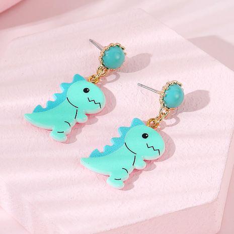 Boucles d'oreilles pour enfants créatives de la mode coréenne petit dragon bleu NHPS255200's discount tags