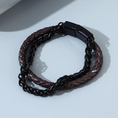 Bracelet en alliage double couche pour hommes de la ligne tendance de la mode coréenne NHPS255220's discount tags