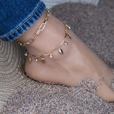 Style ethnique perle de riz fleur cheville style plage simple chaîne de jambe arc en gros NHBQ255257's discount tags