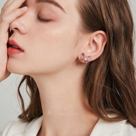 Boucles d'oreilles papillon en cristal violet Creative Fantasy Glass NHBQ254742's discount tags