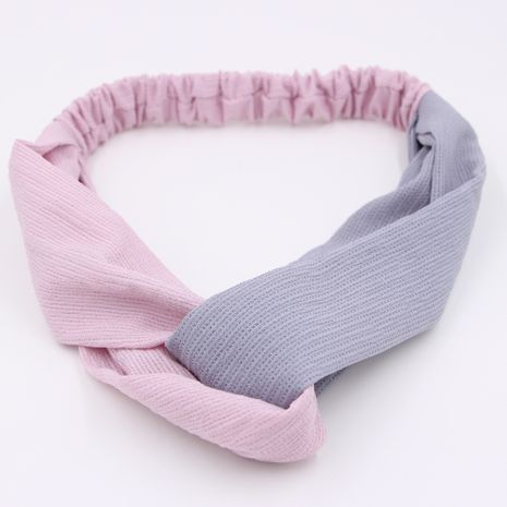 Korean Color matching cross ladies wash face cross casual pure color  hair band hair accessories  NHCL254809's discount tags
