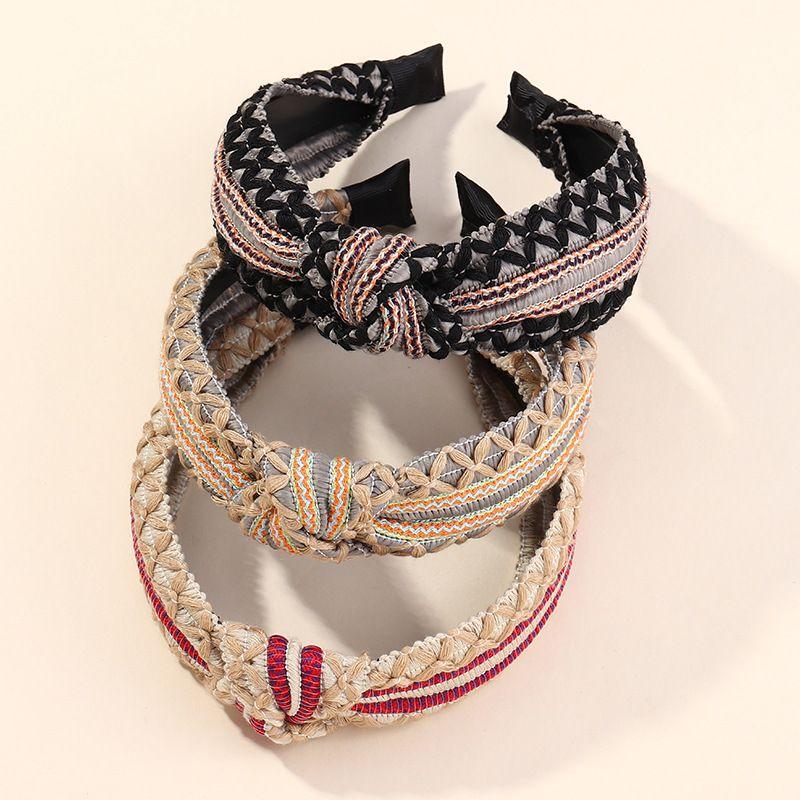 Fashion multistrand bright line widesided hairband knotted headband NHAU255281