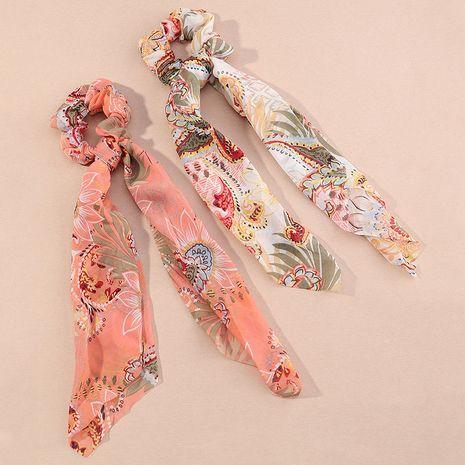 Ensemble de chouchous à longue écharpe nouée à fleurs en satin à la mode NHAU255283's discount tags