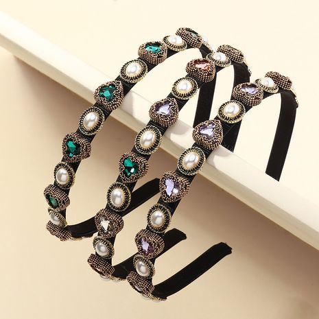 Fashion colored diamonds thin-edged headbands wholesale NHAU255285's discount tags