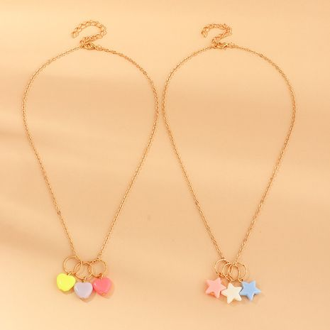 new acrylic girl cute star  necklace  set wholesale NHNU255292's discount tags