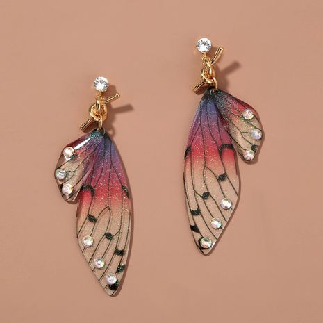 Fashion long tassel simulation cicada wing earrings NHAN255301's discount tags