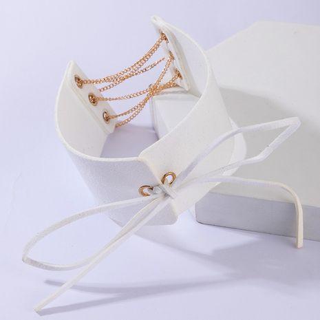 nouvelle chaîne en alliage de mode noeud papillon collier de style ethnique chaîne de la clavicule pour les femmes en gros NHGY255372's discount tags