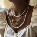 hotselling new head coin trend multilayer pearl pendant necklace for women hot selling NHMD255385