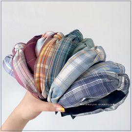 Fashion wide lattice fabric headband wholesale NHOF255398