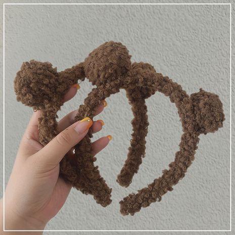 Tocado lindo coreano de las orejas del oso de la horquilla del lavado al por mayor NHOF255404's discount tags