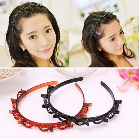 Hot-selling multi-layer hollow woven headband wholesale NHOF255413's discount tags