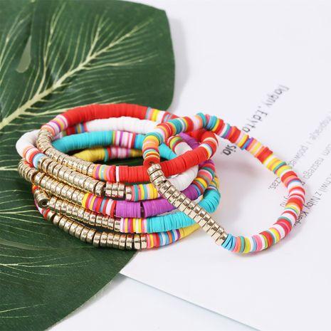 Bracelet élastique de couleur mélangée de perles de riz multicouches de style ethnique bohème NHJJ255424's discount tags