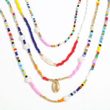 Mode alliage perle de riz hip hop quatre pièces tendance élément ornements collier de style ethnique bohème NHJE255426's discount tags