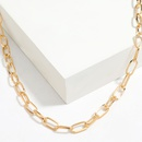 Simple versatile pearl alloy hiphop fashion womens  necklace NHJE255440