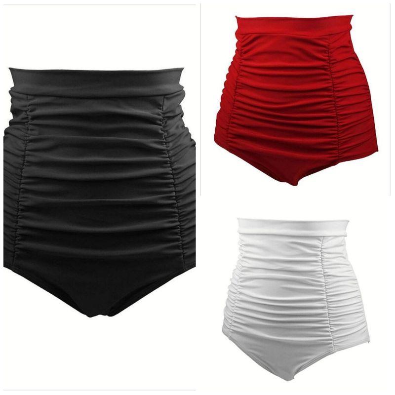 Fashion sexy solid color fold stitching high waist slim waist shorts wholesale NHHL255482
