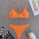 vente chaude split maillot de bain couleur unie simple maillot de bain bikini en gros NHZO255505