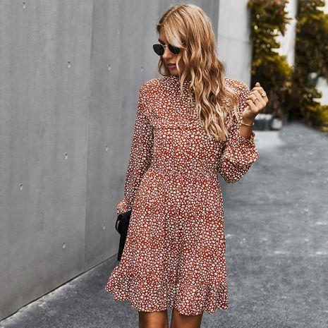 Moda mujer estación otoño nuevo elegante vestido estampado delgado para mujer NHKA255526's discount tags