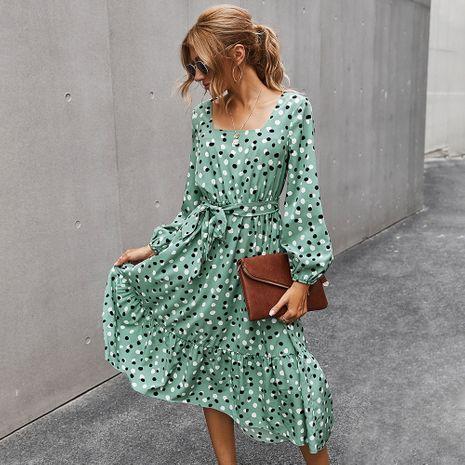 Moda otoño nuevo vestido de cuello cuadrado elegante con estampado clásico para mujer NHKA255528's discount tags