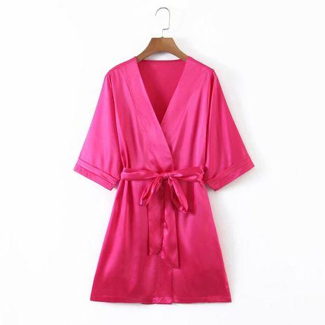 wholesale vestido de pajarita adelgazante con cuello en V sexy de moda para mujer NHAM255652's discount tags