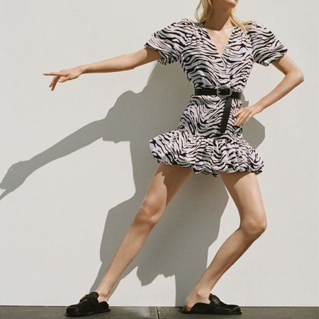 Al por mayor nuevo vestido de moda con estampado animal para mujer. NHAM255691's discount tags
