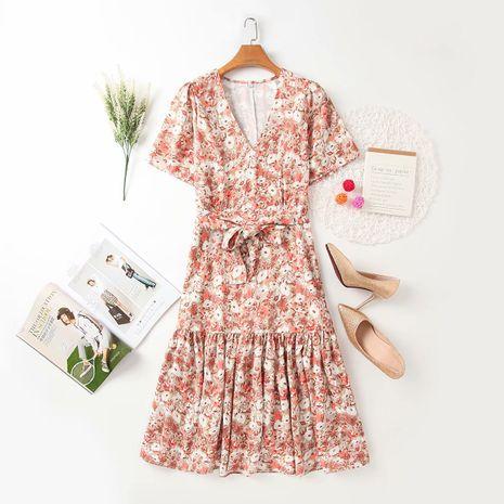 Al por mayor moda nuevo vestido de estampado floral de otoño para mujer. NHAM255696's discount tags