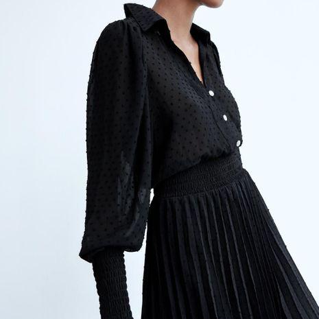 Al por mayor nuevo vestido de cintura elástica plisada de tul de otoño NHAM255697's discount tags