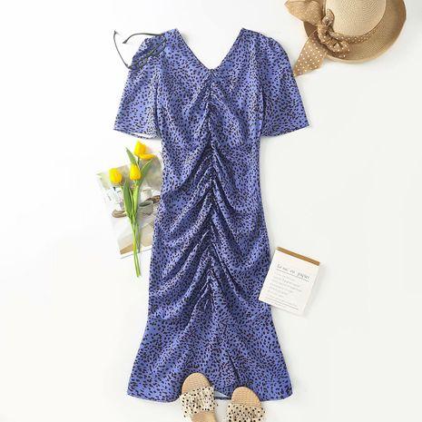 wholesale vestido con estampado de lunares doblado de otoño nuevo de moda NHAM255717's discount tags