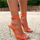 Neue Mode Damen Schnrung Kristall transparente hochhackige Riemen rmische Sandalen NHSO255752