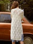 Fashion white lace windbreaker cardigan wholesale NHDE255824