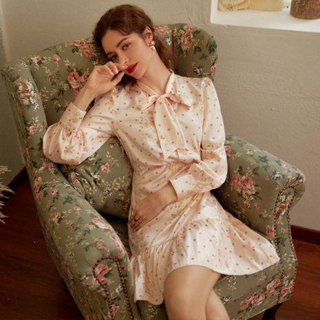 Vestido de blusa de seda rosa de moda al por mayor NHDE255826's discount tags
