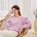 einfacher Stil rosa Top Langarmpullover Grohandel NHDE255828