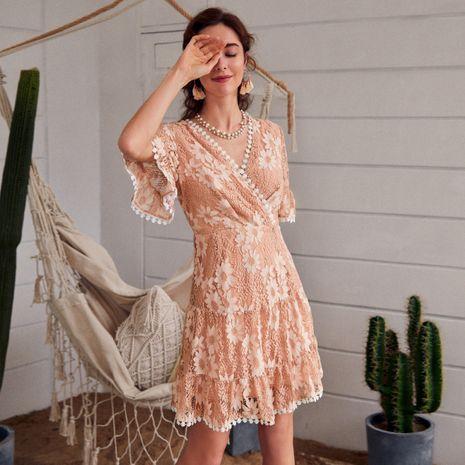 Venta al por mayor caliente simple de la venta del vestido de las mujeres de manga corta casual cómodas de la moda NHDE255850's discount tags
