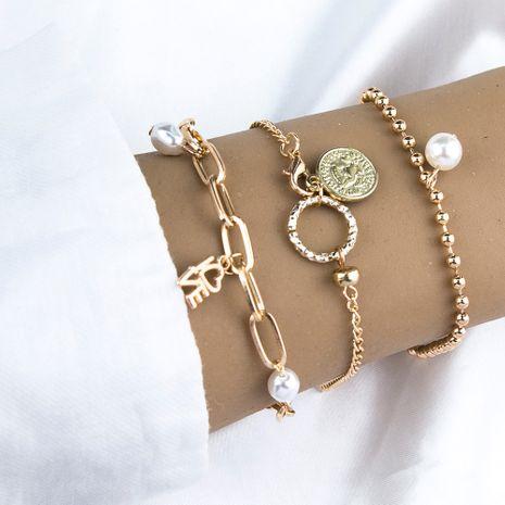 Nuevo AMOR carta círculo perla colgante pulsera creativo retro conjunto de pulsera NHBQ255918's discount tags