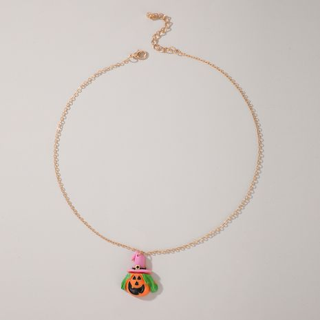 Fashion pumpkin necklace punk alloy necklace NHGY255916's discount tags