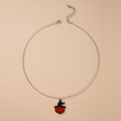 Fashion pumpkin necklace punk alloy Halloween necklace NHGY255914's discount tags