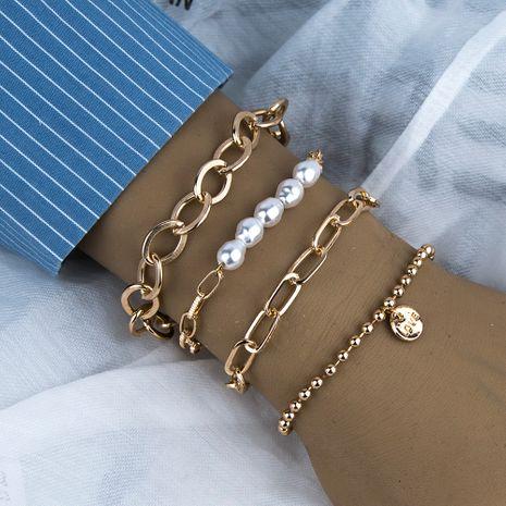LOVE perla pulsera de cuatro piezas forma geométrica conjunto de pulseras de personalidad salvaje NHBQ255893's discount tags